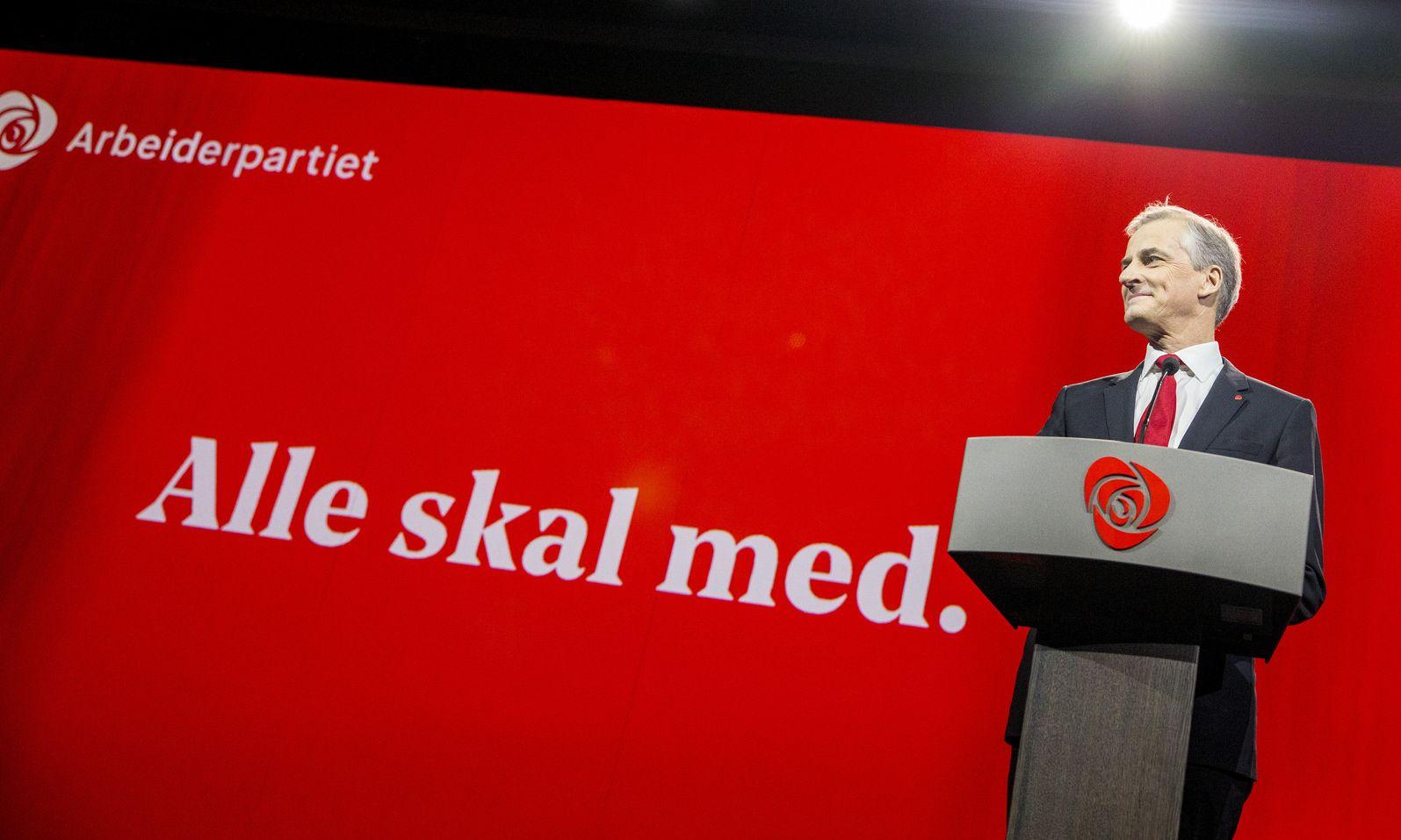 Jonas Gahr Støre på Arbeiderpartiets landsmøte