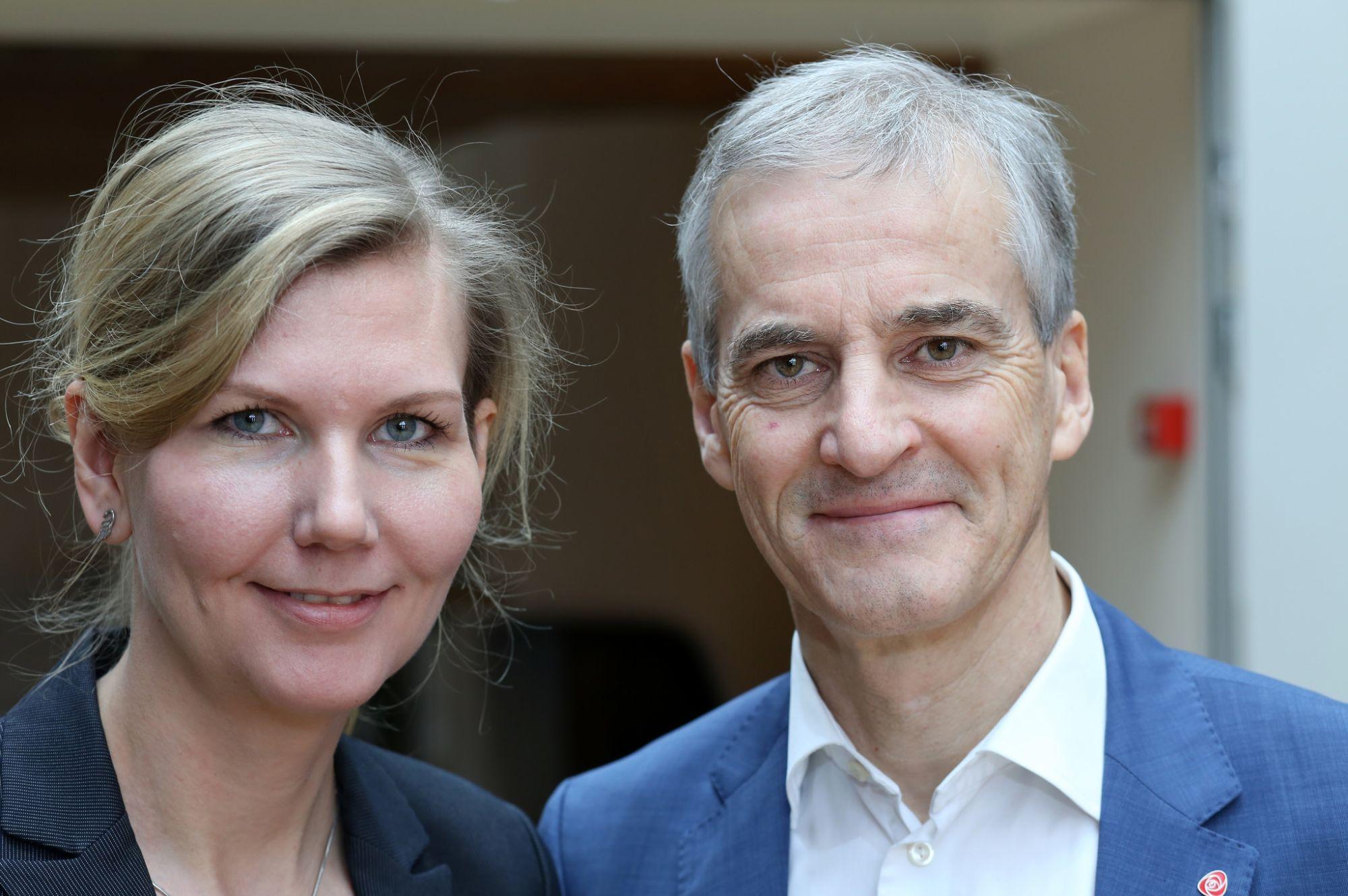 Marianne Marthinsen og Jonas Gahr Støre