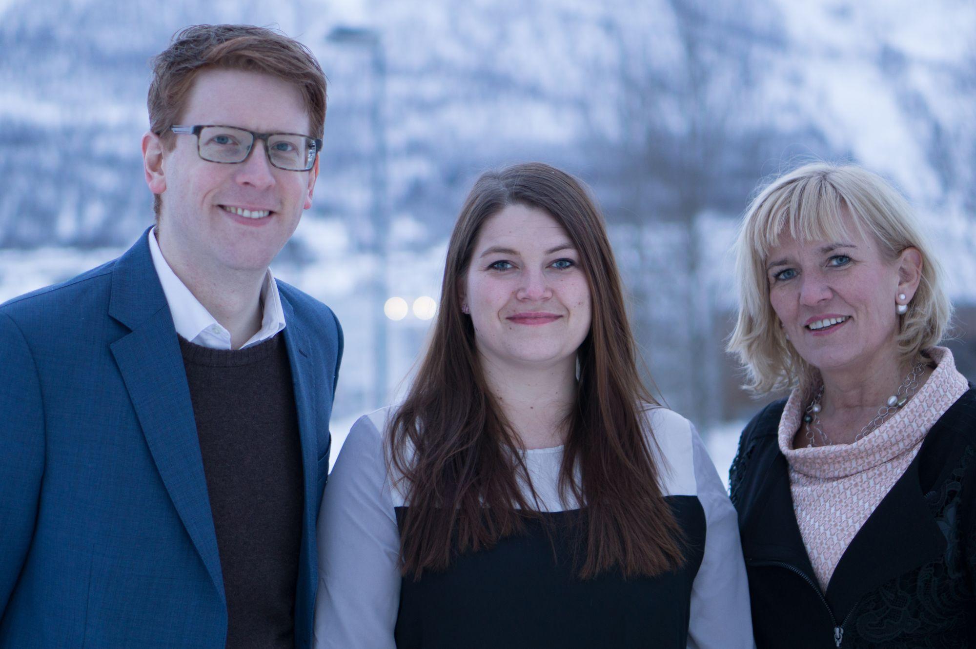 Martin Henriksen, Cecilie Myrseth og Kari-Anne Opsahl.