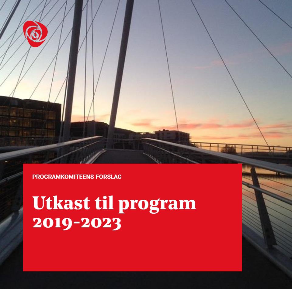Utkast til program 2019-2023 Ypsilon i solnedgang