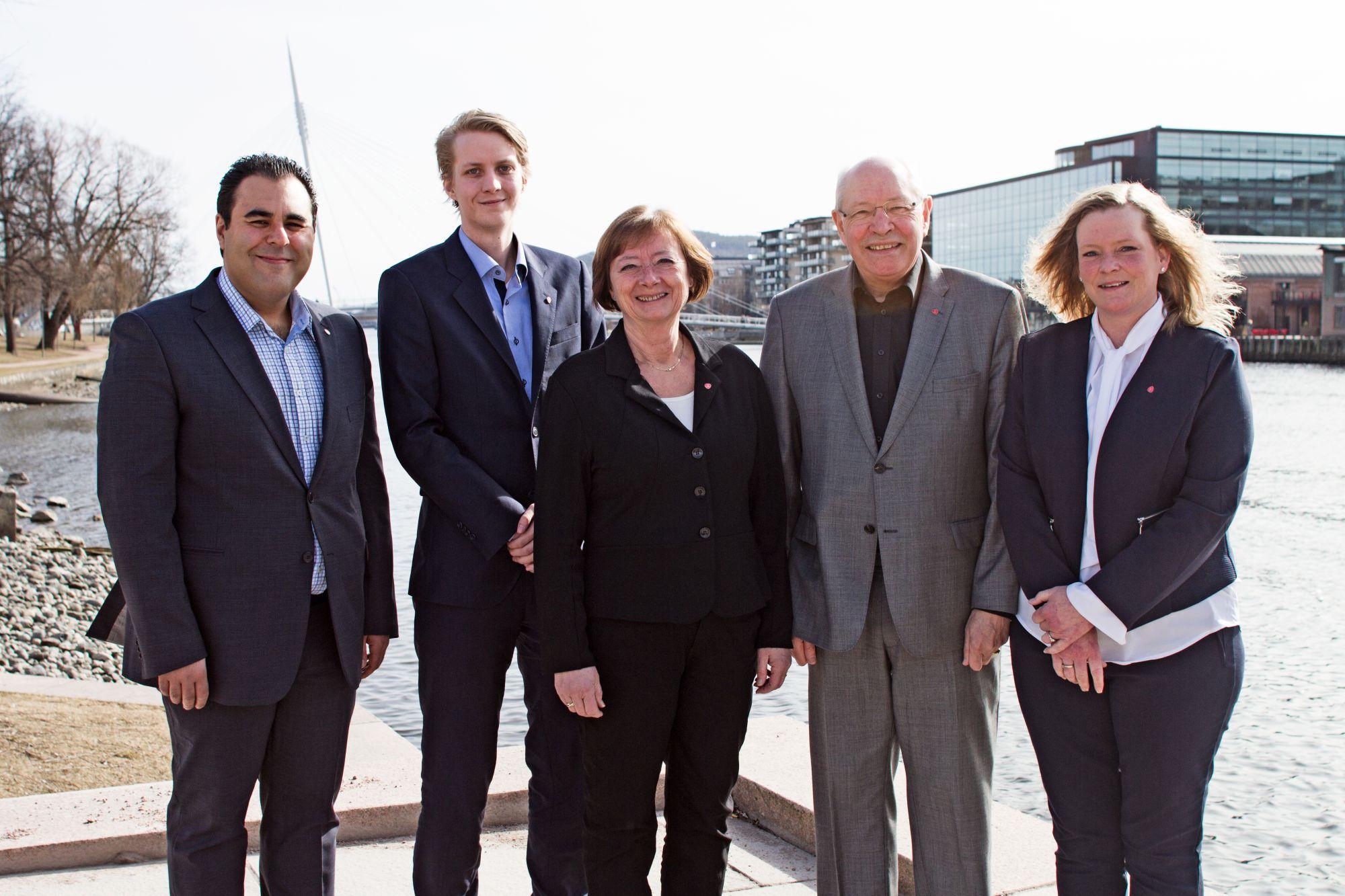 Masud Gharahkhani, Niclas Tokerud, Lise Christoffersen, Martin Kolberg, Anne Sandum.