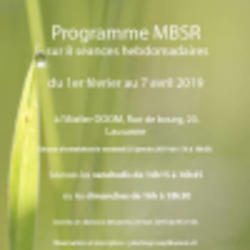Programme MBSR - Méditation de pleine conscience - Mindfulausanne