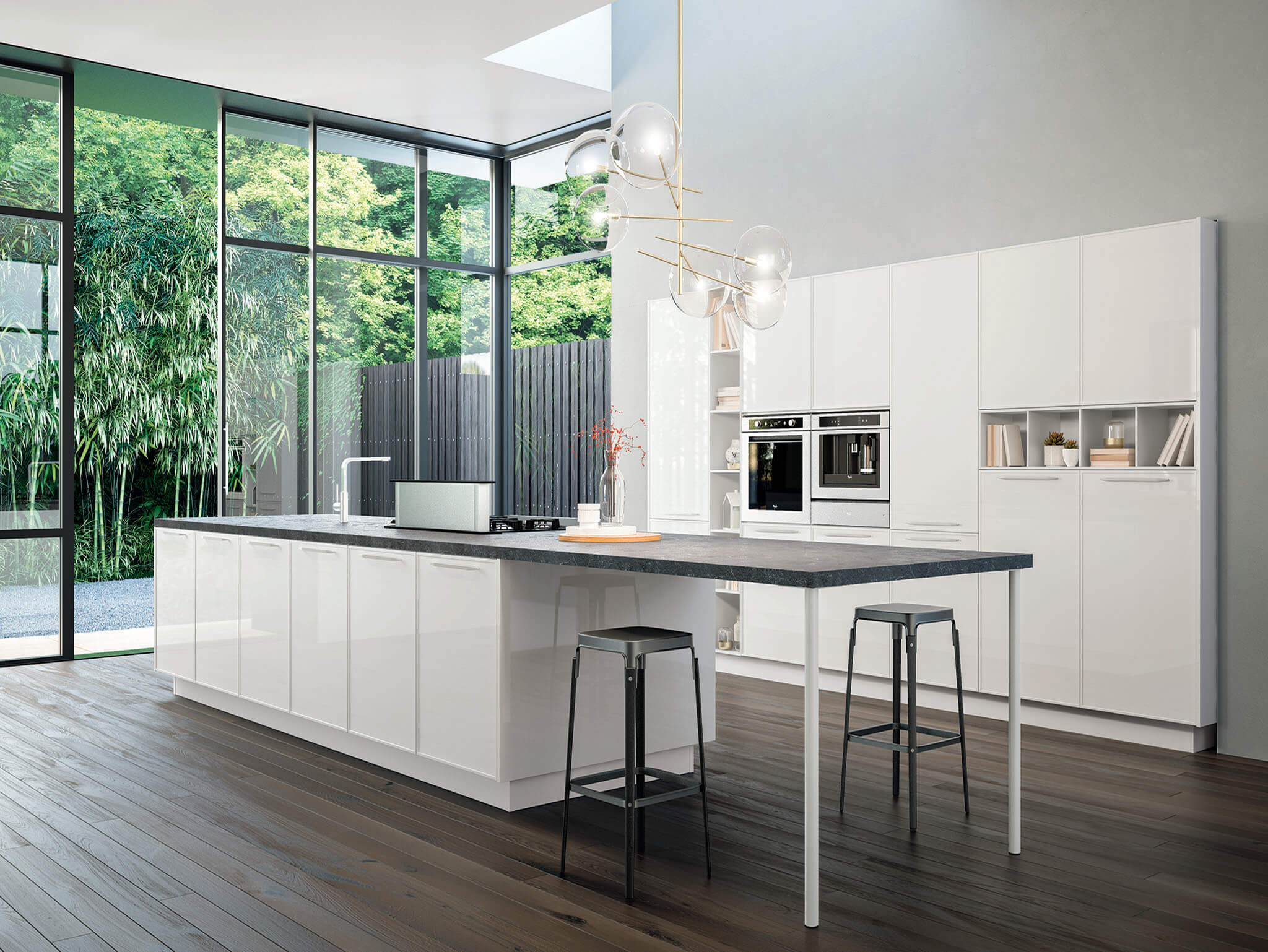 Karen contemporary kitchen cabinet Chicago