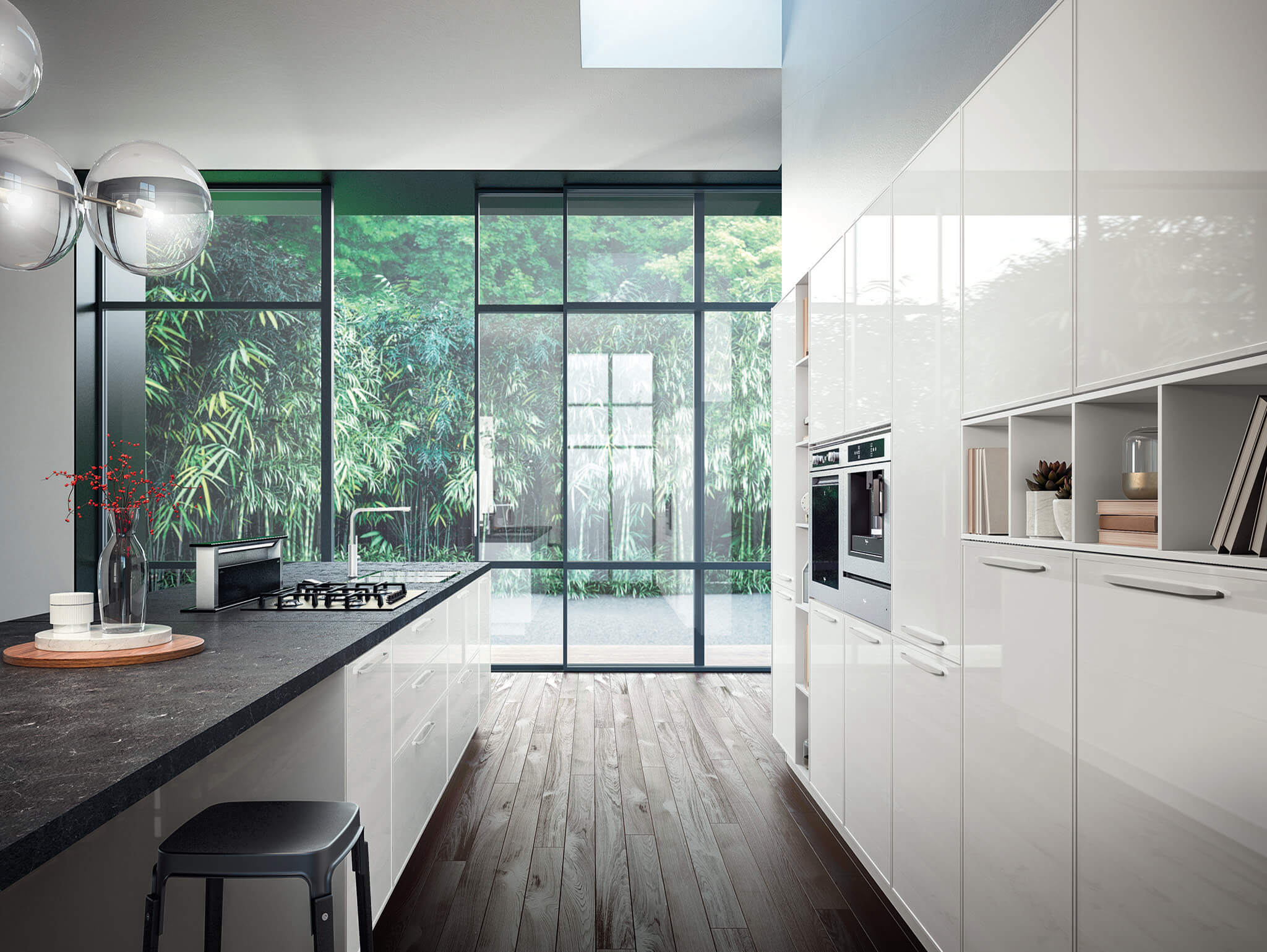 Karen modern kitchen cabinet  matte white