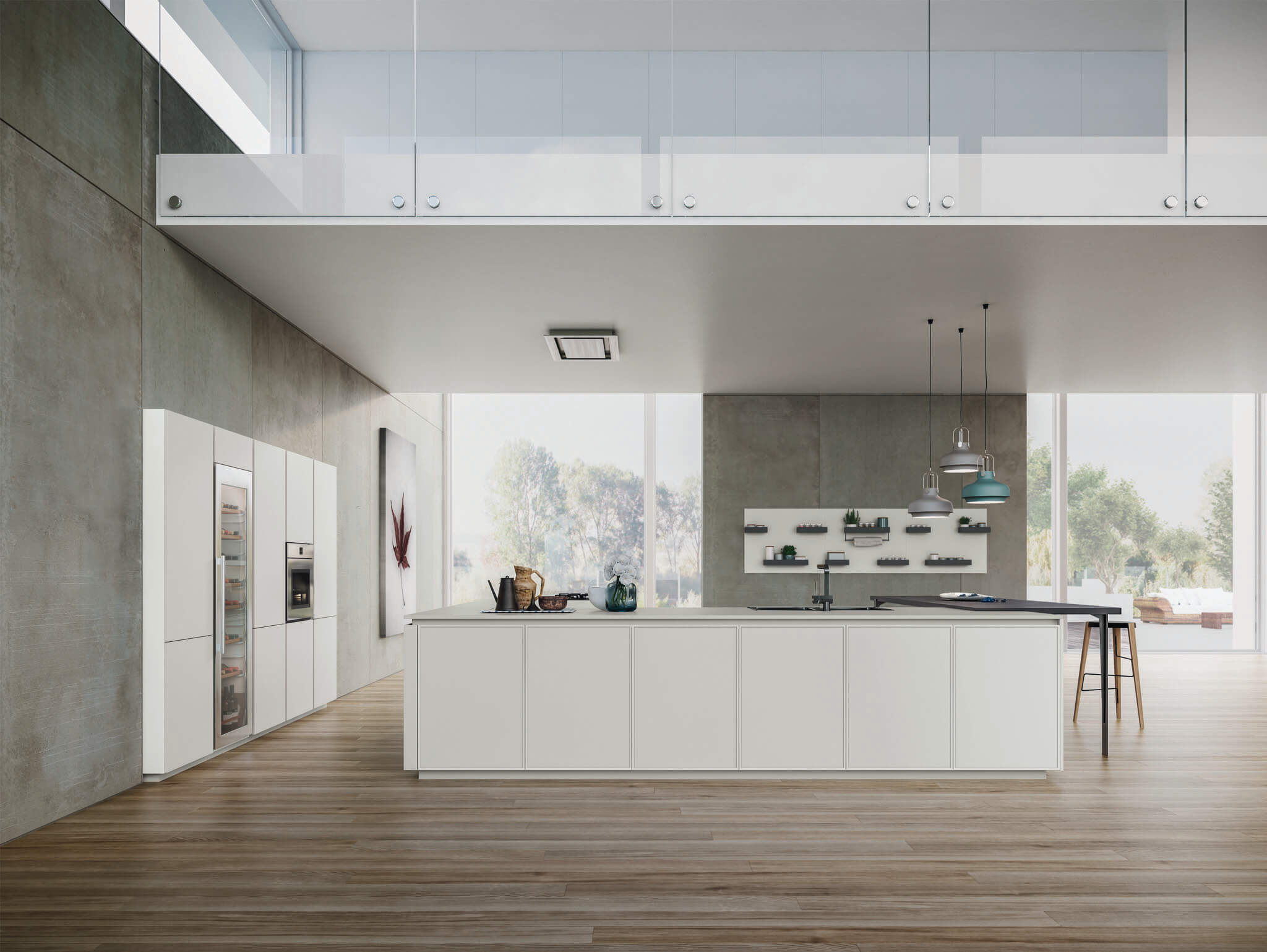 Karen contemporary kitchen cabinet glossy
