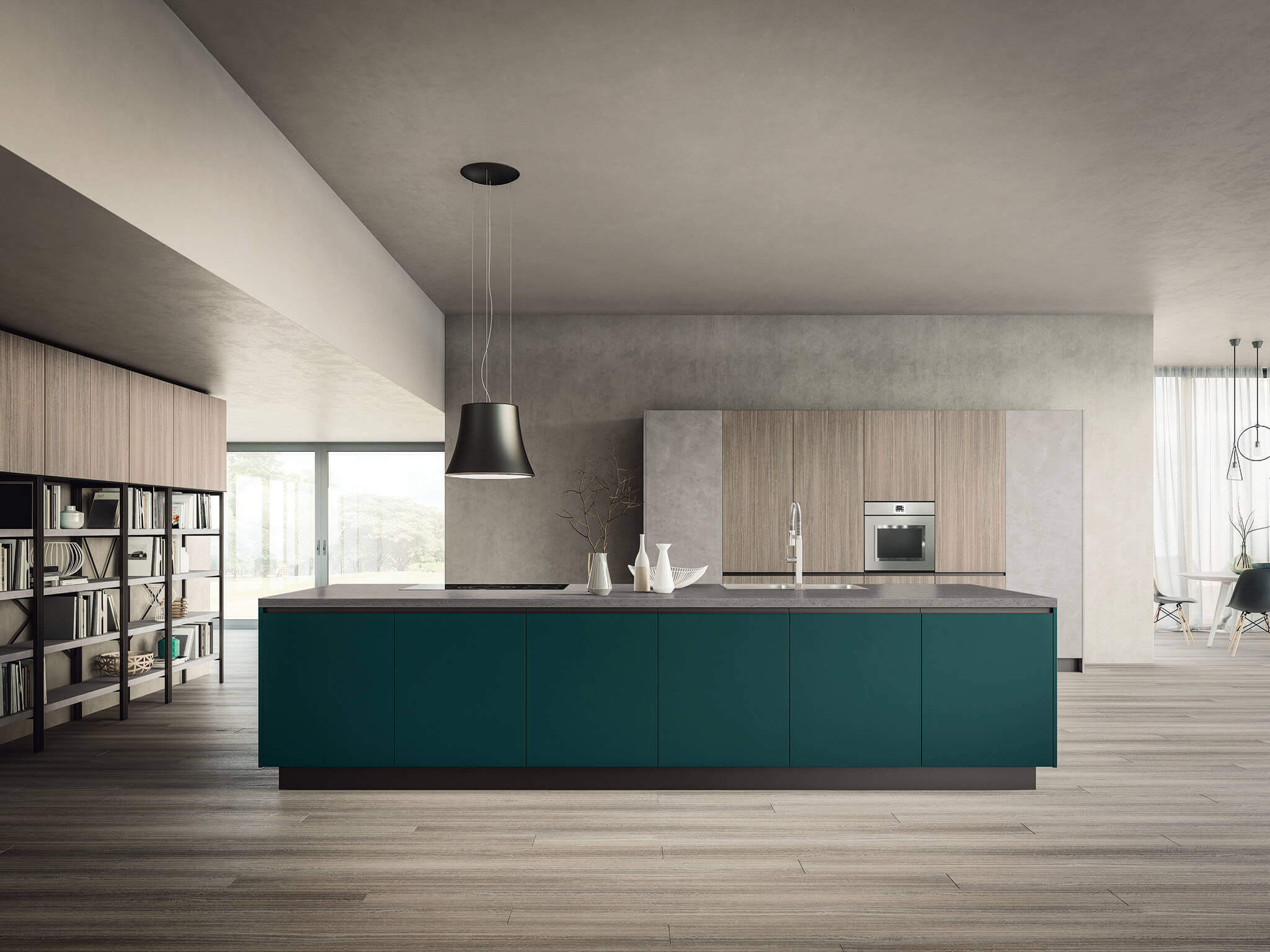 Isabel contemporary kitchen cabinet Matt lacquered