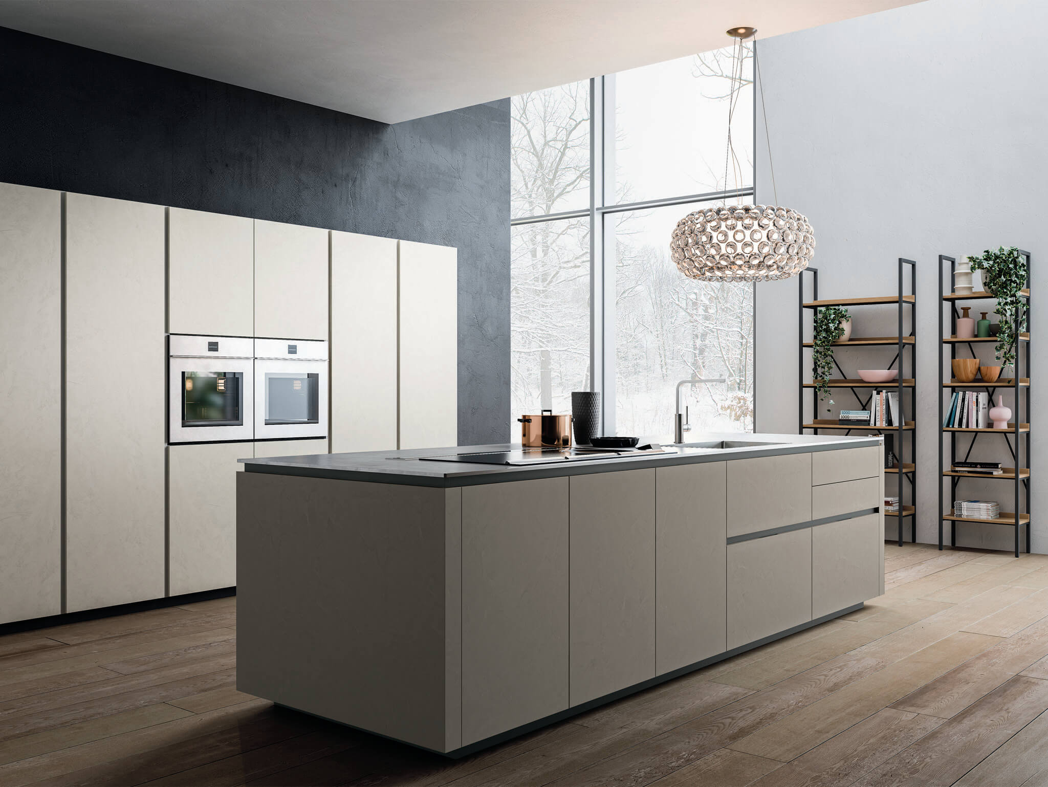 K105 contemporary kitchen cabinet Chicago