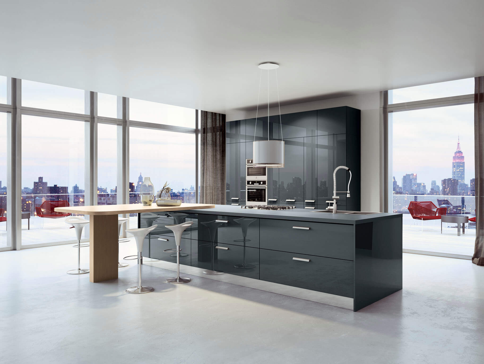 Kalea contemporary kitchen cabinet