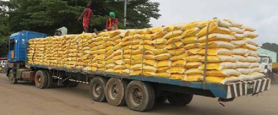 Flat bed rice on a truck