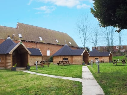 Three 17m² camping cabins at YHA Canterbury.