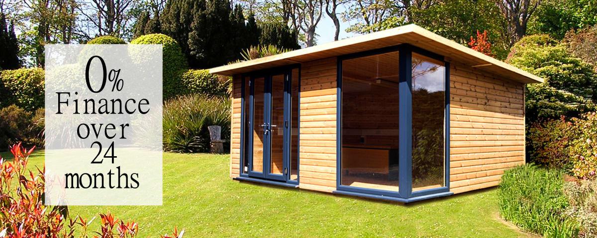 Exquisite garden rooms offices studios cabins cabin for Garden rooms finance