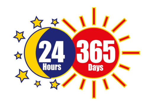 24hours 365days