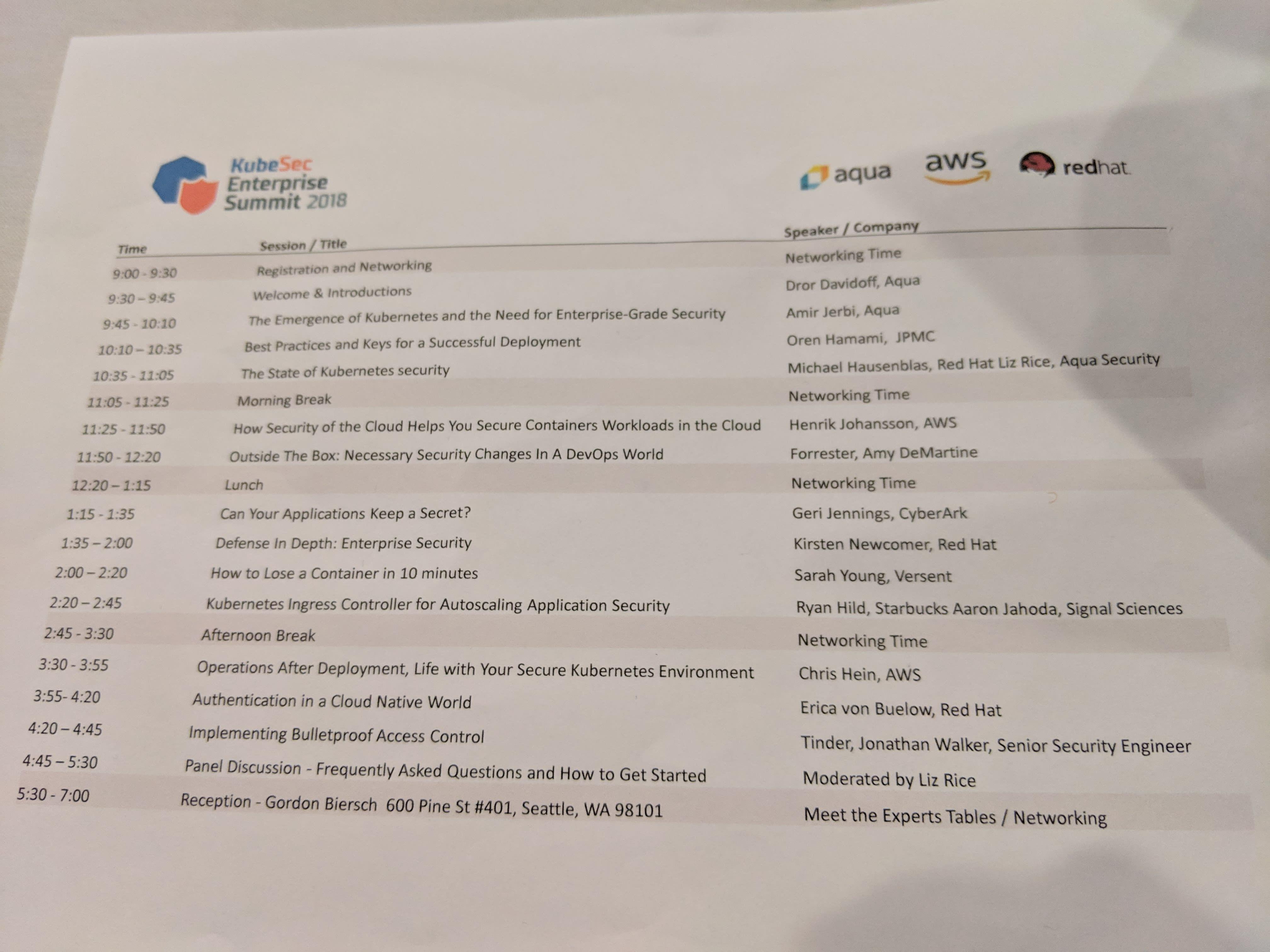 KubeSec Enterprise Summit