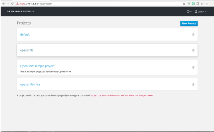 openshift-projects