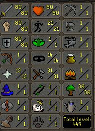 80 Attack, 80 Strength, 80 Defence - Quested! -  $64.99