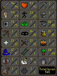 94 Attack, 99 Strength, 75 Defence - Quested! -  $154.99