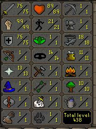 75 Attack, 99 Strength, 75 Defence  - $119.99