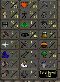 73 Attack, 99 Strength, 70 Defence  - $119.99