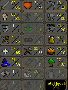 Quested Pure 60 Atk, 80 Str, 75 Range, 1 Defence - $199.99