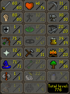 Quested Pure Mith Gloves & More 60 Attack 80 Strength 75 Ranged 71 Magic - $199.99
