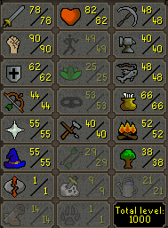 97 Combat Main Full Void, B Gloves, dncients, Lunars - $229.99