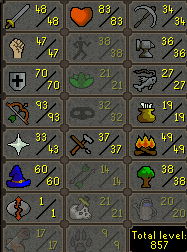 88 Combat main 93 ranged, 70 Def, 100 Quest Points - $199.99