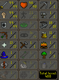 Maxed Melee Main - 99 Attack, 99 Strength, 99 Defence - $299.99