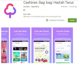 Aplikasi Cashtree Penghasil Uang dan Pulsa
