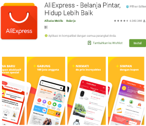Aplikasi Aliexpress Belanja Online Internasional Terpecaya indonesia