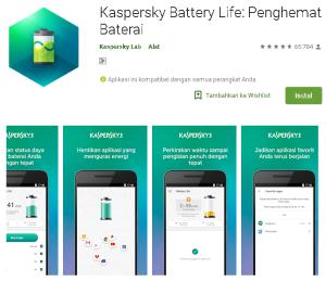 Aplikasi kaspersky Penghemat Baterai Android