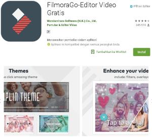 Aplikasi Fimora Go edit Video terbaik Tanpa watermark di Android