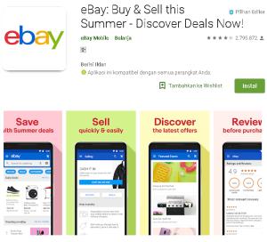 Aplikasi ebay Belanja Online Internasional Terpecaya indonesia