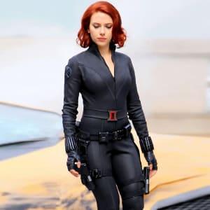 Natasha Romanoff The Avengers 2012 Black Widow Leather Jacket