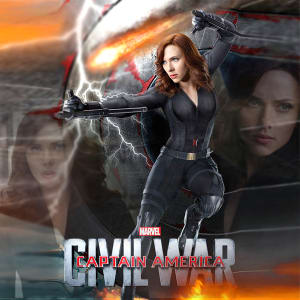 Captain America Civil War 2016 Black Widow Fit Faux Leather Jacket areena design