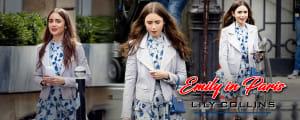 Lily Collins Emily In Paris Season 1 Biker style Leather Jacket Areena design