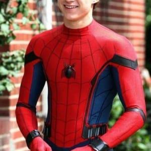 Spider Man (2018) Homecoming Tom Holland Leather Jacket areena design