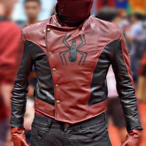 Spider-Man 2002 Peter Parker Last stand Leather Jacket Areena design