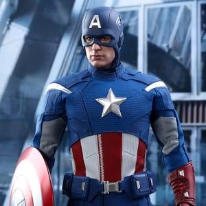 Captain America The Avengers 2012 Chris Evan Blue Faux Leather Jacket areena design