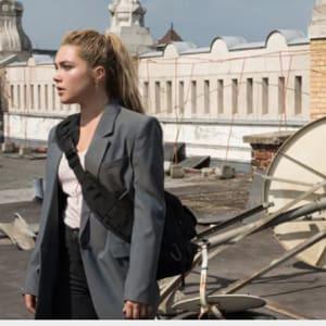Black widow Florence Pugh Movie 2021 Yelena Belova Grey Blazer Jacket areena design