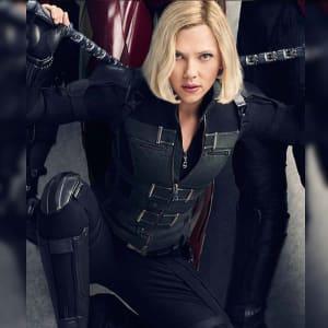 Avengers Infinity War 2018 Natasha Romanov Black widow Cotton Vest (2)