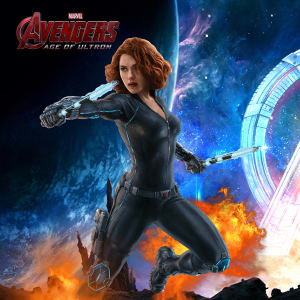 Avengers Age of Ultron 2015 Black Widow Natalia Romanov Leather Jacket