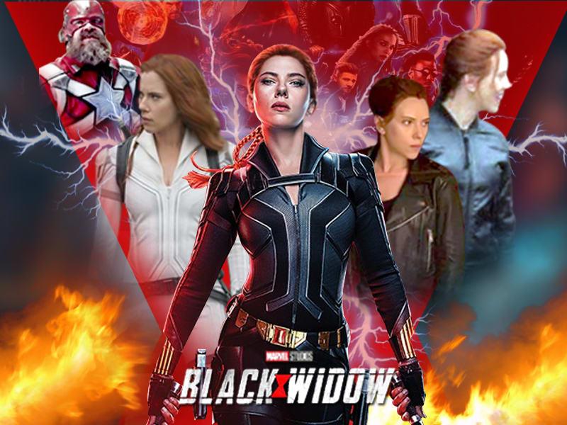 Black widow upcoming New Marvel Avengers Movie Leather Jacket 2021