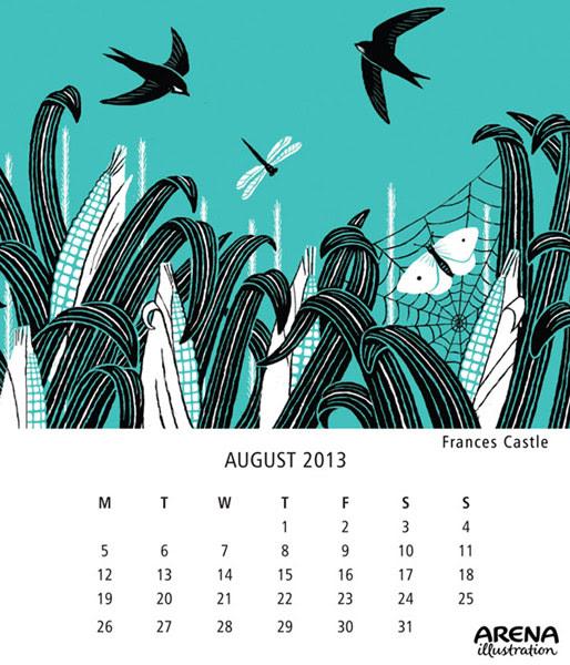 Arena-Illustration-Frances-Castle-Aug-Calendar2013