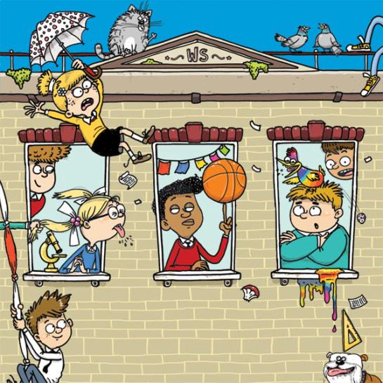Wayside School Arena Illustration