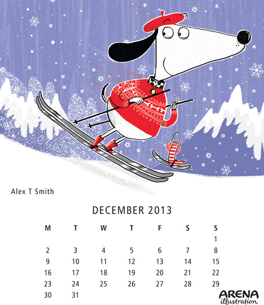 Arena-Illustration-Alex-T-Smith-Dec-Calendar2013