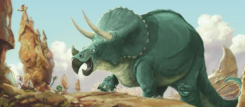 It's just a Triceratops