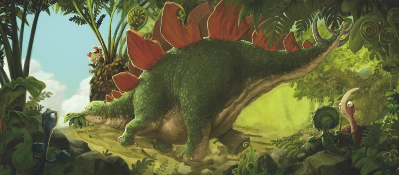 It's Stegosaurus