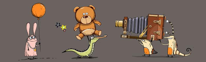 Aleksei Bitskoff Little Monsters and Aliens