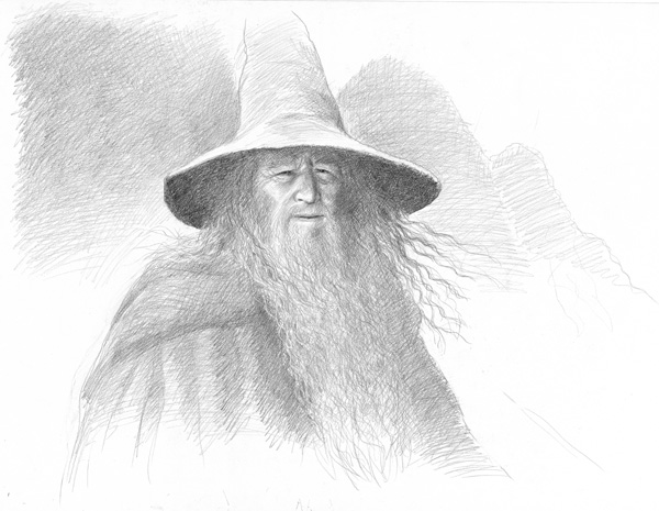Sir Ian McKellen as Gandalf