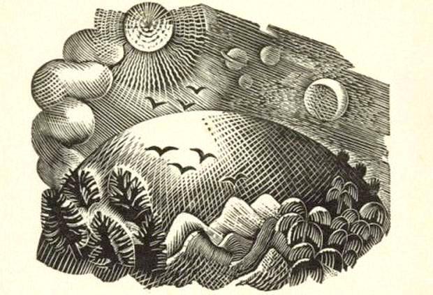 Eric Ravilious woodcut